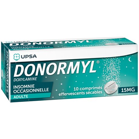 DONORMYL 15MG Comprimés effervescents sécables 10