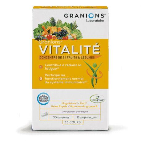 Granions Überarbeitung Fatigue Vitality 30 Tabletten