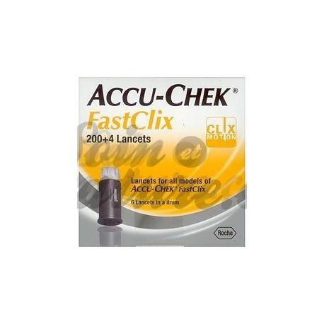 Accu-Chek 204 lancetas FastClix