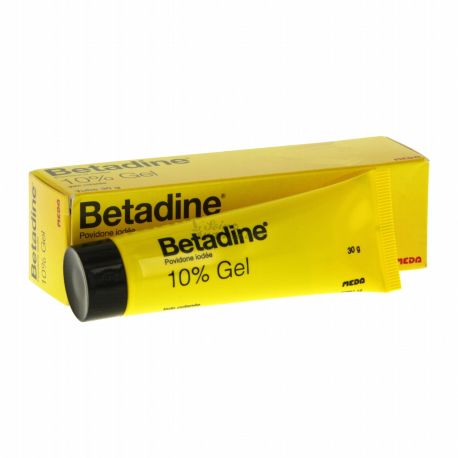 Betadine 10 CENT TUB DE GEL 30G