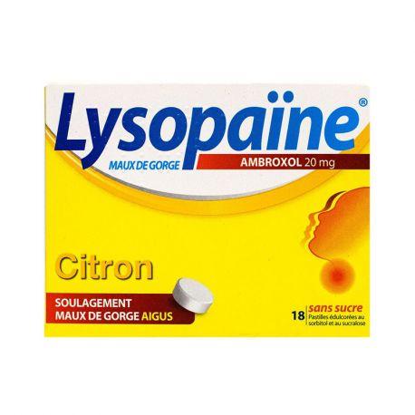 LYSOPAINE Citron pastilles anesthésiantes sans sucre