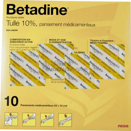 Betadine 10 per cento TULLE DRESSING 5