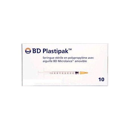 BD PLASTIPAK 10 2ML aguja estéril