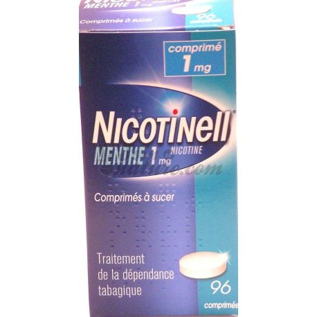 NICOTINELL 1 MG MENTHE 96 COMPRIMÉS A SUCER ANTI-TABAC