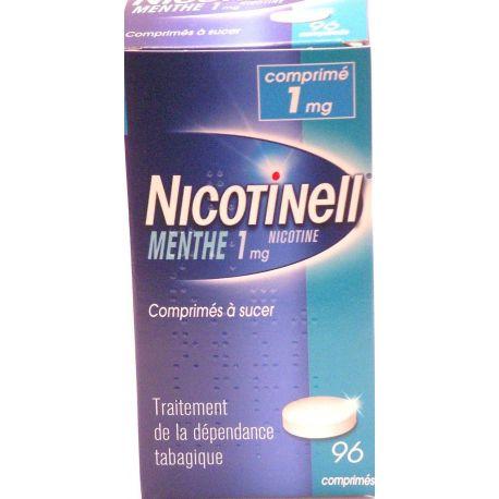 Nicotinell MENTA 1 96 MG COMPRIMIDOS chupar una TABACO