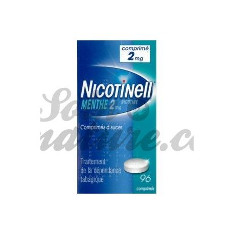 NICOTINELL 2MG MENTHE 96 COMPRIMÉS A SUCER