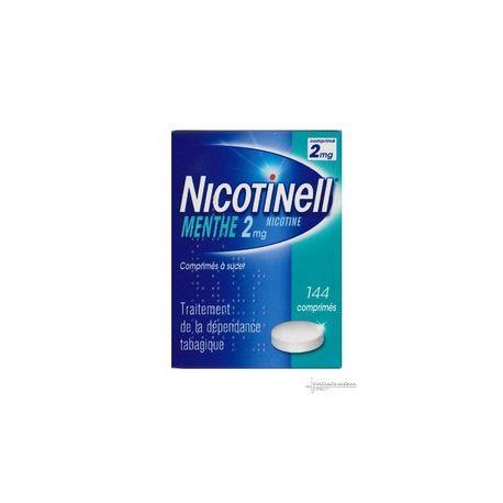 Nicotinell MENTA 2MG TABLETAS 144 una mamada