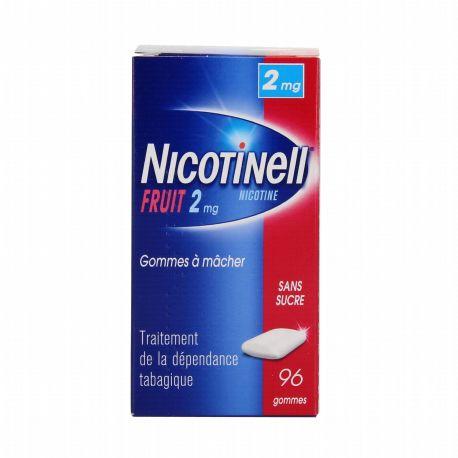 Nicotinell 2MG 96 FRUIT goma de mascar livre de açúcar