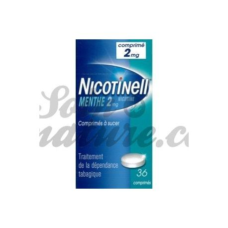 NICOTINELL 2MG MENTHE 36 COMPRIMÉS