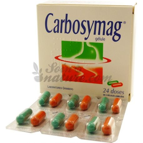 Scatola Carbosymag 24 dose di 2 capsule gemellate