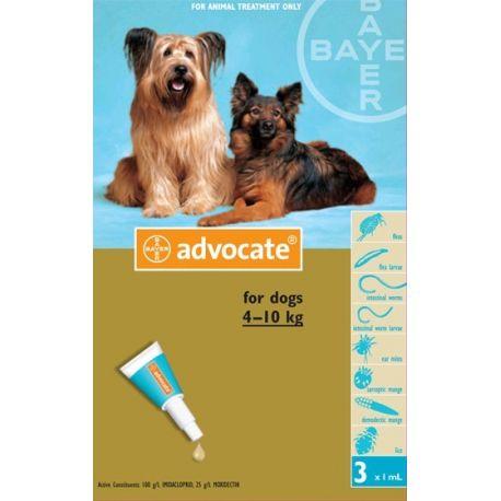 ADVOCATE DOG MEDIUM 3 PIPETTES 1ML BAYER