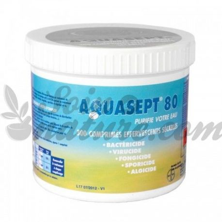 300 TABLETS SPARKLING WATER TREATMENT AQUASEPT 80 BAYER