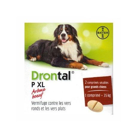Drontal XL P 2 TABLETS BAYER DOG