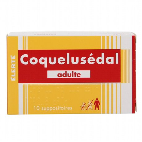 COQUELUSEDAL adulte suppositoire toux bronchite