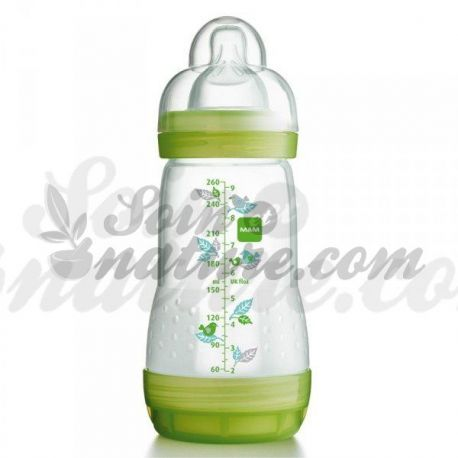 Botella verde MAM ANTI COLIQ DECORACIÓN 160ml
