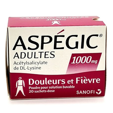 ASPEGIC 1000 MG 20 sachets
