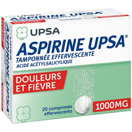 Aspirin UPSA 1000MG EFFERVESCENT TABLETS