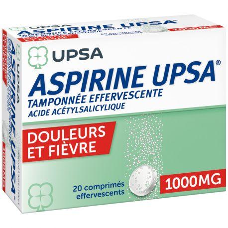 ASPIRINE 1000MG UPSA COMPRIMES EFFERVESCENTS