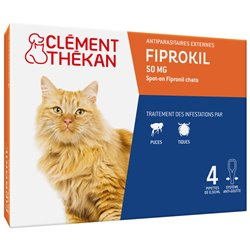 CLEMENT THEKAN FIPROKIL 50MG SPOT ON CHATS 4 PIPETTES