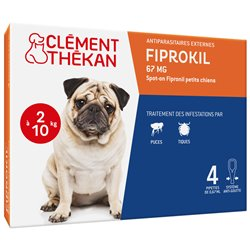 CLEMENT THEKAN FIPROKIL 67MG SPOT ON PETIT CHIEN 4 PIPETTES