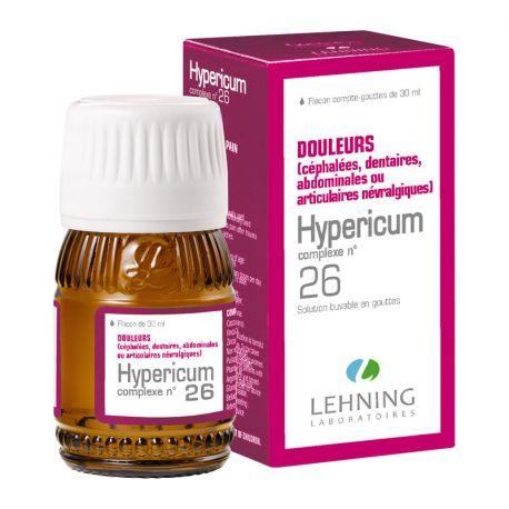 LEHNING L 26 HYPERICUM douleurs dentaires