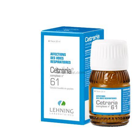 Lehning L61 Cetraria respiración complejo homeopático