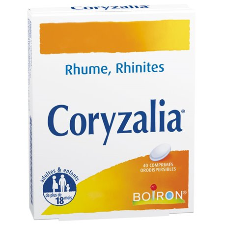 CORYZALIA 40 tablets Boiron Homeopathic Colds Rhinitis