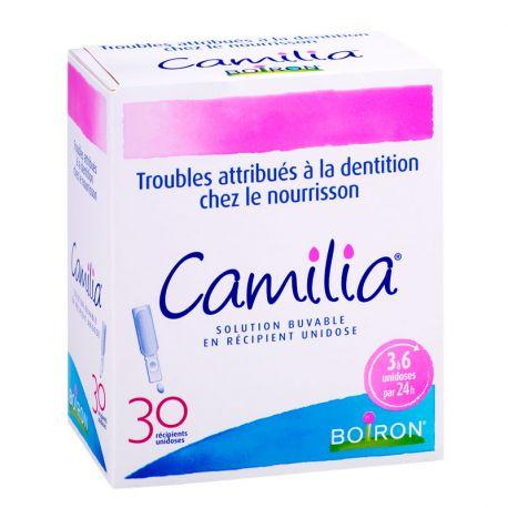 CAMILIA 30 unidoses Homéopathie pour poussée dentaire de bébé BOIRON