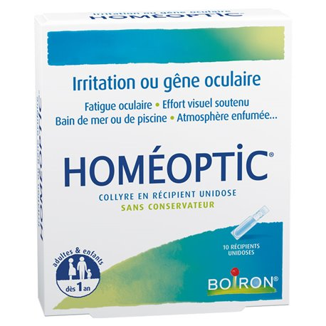 HOMEOPTIC oogdruppels unidoses HOMEOPATHIE Boiron