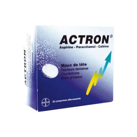 ACTRON aspirina paracetamol cafeína 20CP