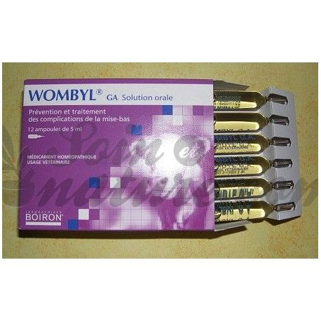 WOMBYL GA MUND Boiron 12 BULBS 5 ML