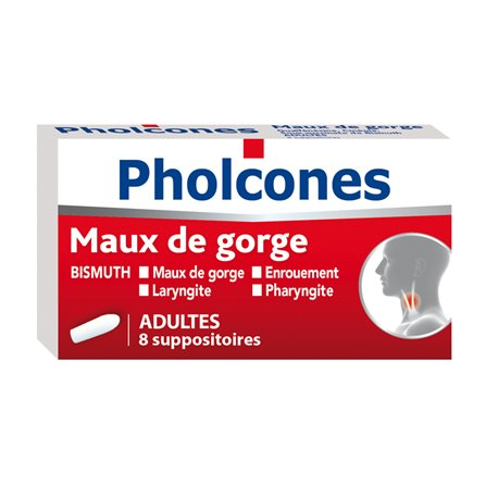 PHOLCONES Bismut supositori 8 ADULT