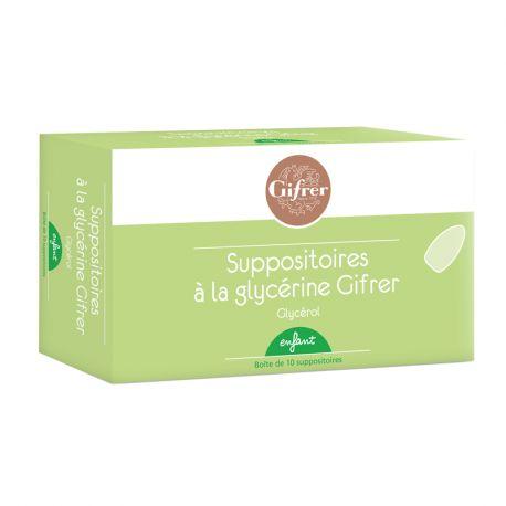 SUPOSITÓRIO GLICERINA CRIANÇA GIFRER BOX 10