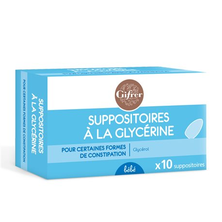 SUPPOSITOIRE GLYCERINE BÉBÉ GIFRER BOITE DE 10