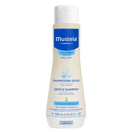 INFANT BABY FOAM SHAMPOO 200ML MUSTELA