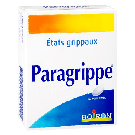 PARAGRIPPE Homeopathy Boiron 60 Tablets