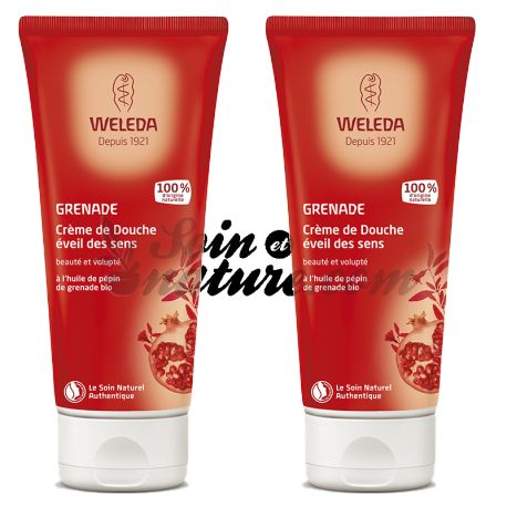 SHOWER CREAM 200ML WELEDA GRENADE PACK OF 2