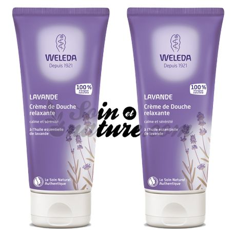 WELEDA douchecrème LAVENDEL 200ML LOT VAN 2