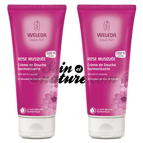 WELEDA ROSE douchecrème 200 ML LOT 2