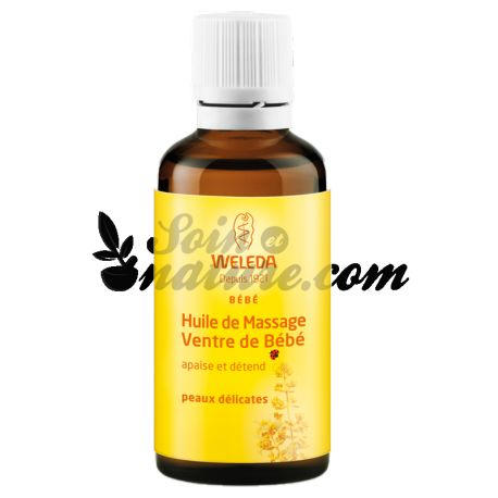 Weleda Huile Massage Ventre Bébé 50ml