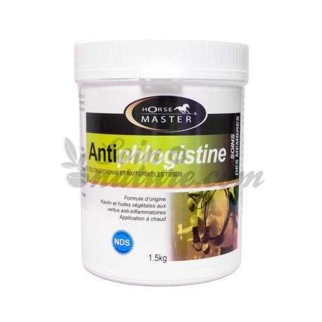 Antiphlogistine 1,5 kg cataplasma emolientes e suavizantes cavalos