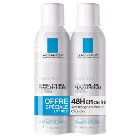 DEODORANT PHYSIOLOGIQUE 24H LA ROCHE POSAY 150ML LOT DE 2