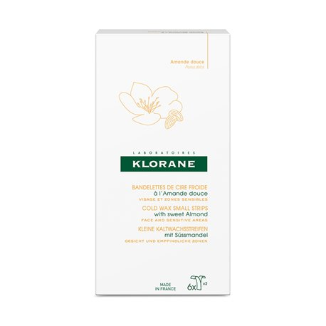 Klorane cold wax face with sweet almond strips 6