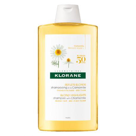 Klorane Shampoo con Camomilla e bottiglia Blondissant Illuminatore 400ML