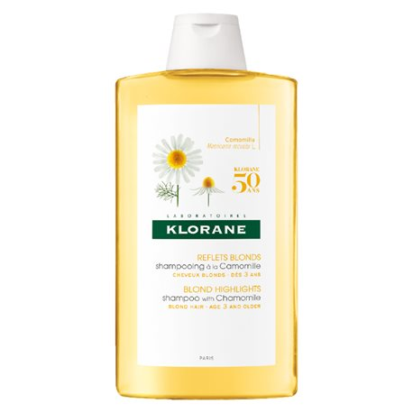 Klorane Shampoo with Chamomile and Blondissant Illuminator 400ML bottle