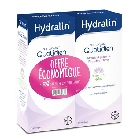 HYDRALIN QUOTIDIEN Lot de 2 x 400ML