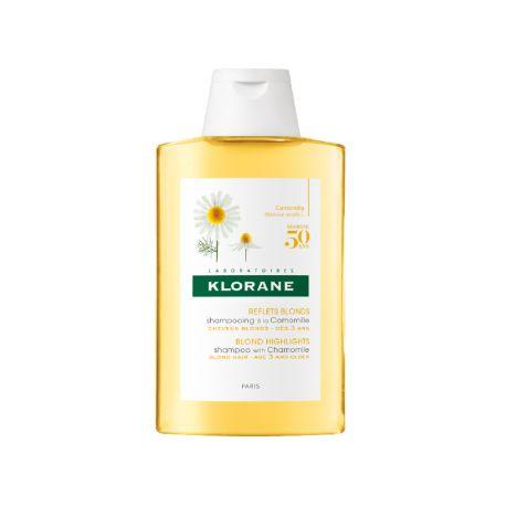Klorane Shampoo con Camomilla e bottiglia Blondissant Illuminatore 200ML