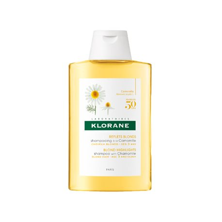 Klorane Shampoo met kamille en Blondissant Illuminator 200ML fles