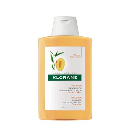 Klorane pflegende Shampoo mit Mango-Butter 200 ml Flasche