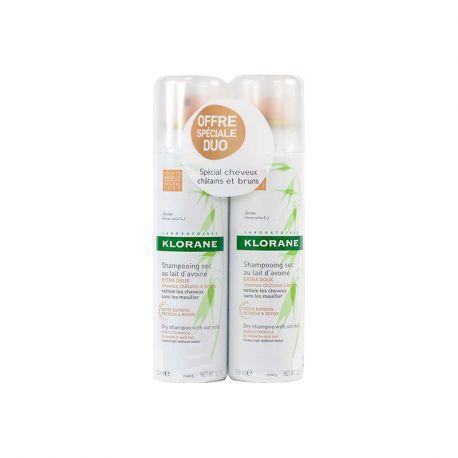 Klorane shampoo seco Leite de Aveia matizado no Lote 2 de spays 150ML